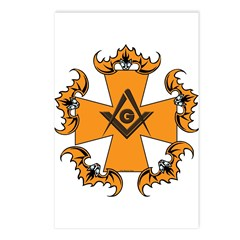 Masonic Bats and Maltese Cross Postcards (Package