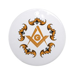 Bats and the Masons Ornament (Round)