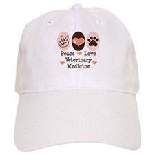 Peace Love Veterinary Medicine Baseball Cap