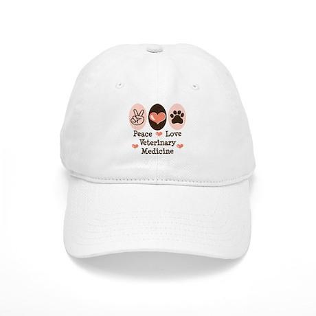 Peace Love Veterinary Medicine Cap