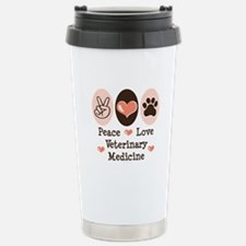 Peace Love Veterinary Medicine Travel Mug