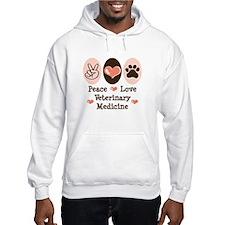 Peace Love Veterinary Medicine Hoodie