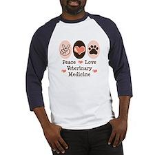 Peace Love Veterinary Medicine Baseball Jersey