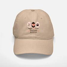 Peace Love Veterinary Medicine Baseball Baseball Cap