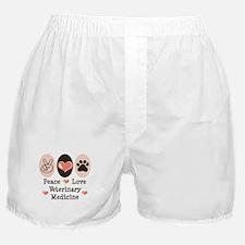 Peace Love Veterinary Medicine Boxer Shorts