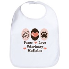 Peace Love Veterinary Medicine Bib
