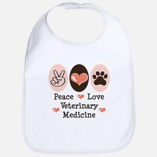 Peace Love Veterinary Medicine Bib