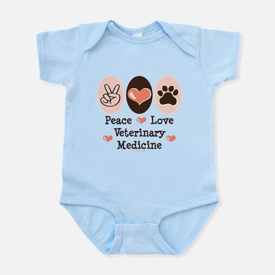 Peace Love Veterinary Medicine Infant Bodysuit