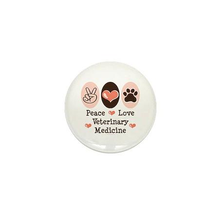 Peace Love Veterinary Medicine Mini Button
