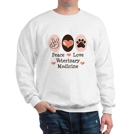 Peace Love Veterinary Medicine Sweatshirt