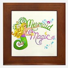 Mermaid Magic Framed Tile