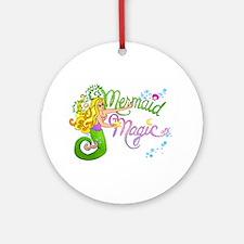 Mermaid Magic Ornament (Round)