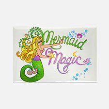 Mermaid Magic Rectangle Magnet