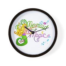 Mermaid Magic Wall Clock