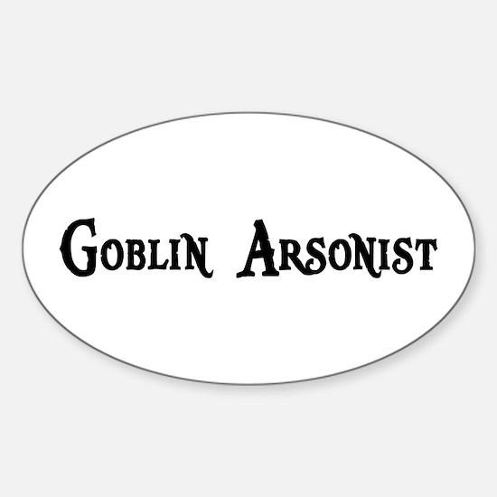 Goblin Arsonist Oval Decal