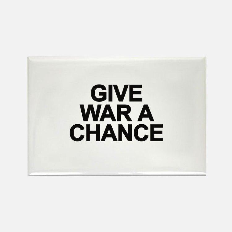 Cute Give war a chance Rectangle Magnet