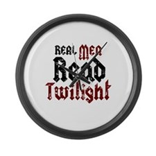Real Men Read Twilight Large Wall Clock