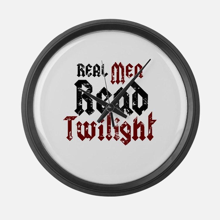 Real Men Read Twilight Large Wall Clock