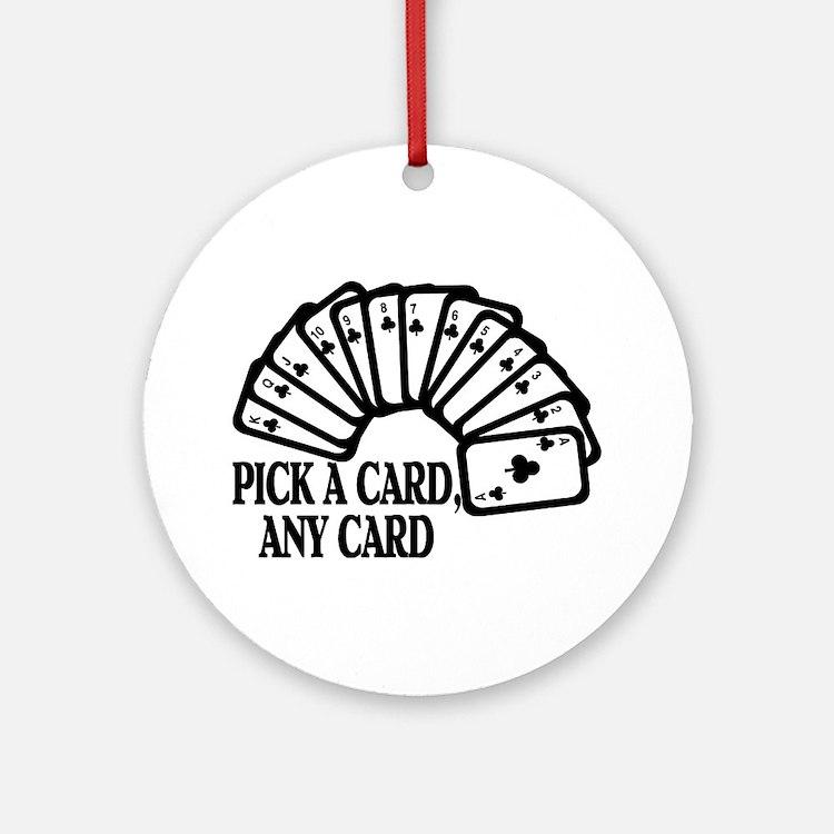 Pick A Card Ornament (Round)