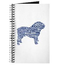 Bulldog Text Blue Journal