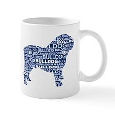 Bulldog Text Blue Mug