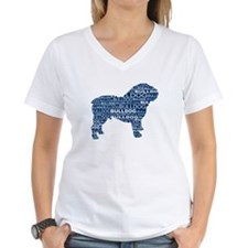 Bulldog Text Blue Shirt