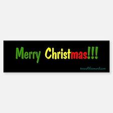 Merry Christmas bumper sticker Bumper Bumper Bumper Sticker