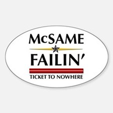 Ticket To Nowhere Oval Decal