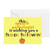 HAPPY HALLOWEEN PHONETIC Greeting Card