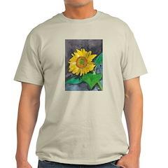 Sunflower Burst Ash Grey T-Shirt