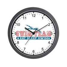 Women's Swim Team Wall Clock