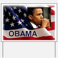 Thoughtful Obama Yard Sign