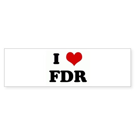 I Love FDR Bumper Sticker