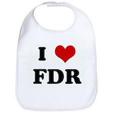 I Love FDR Bib