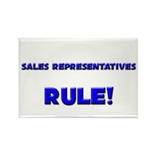 Sales Representatives Rule! Rectangle Magnet