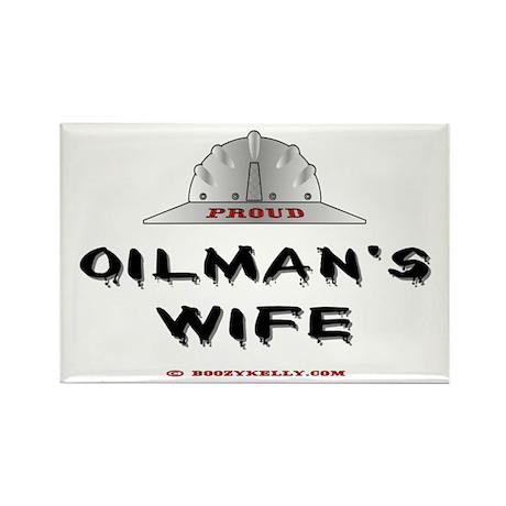 Proud Oilman's Wife Rectangle Magnet