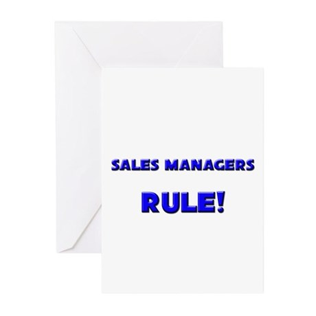 Sales Managers Rule! Greeting Cards (Pk of 10)