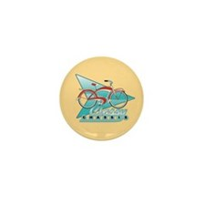 Vintage Bicycle Mini Button (10 pack)
