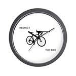 """Respect The Bike"" Wall Clock"
