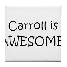Cute Carroll Tile Coaster