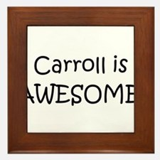 Cute Carroll Framed Tile