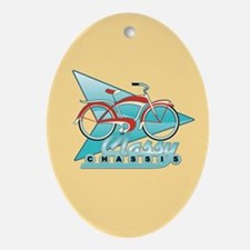Vintage Bicycle Oval Ornament