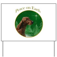 Irish Setter Peace Yard Sign
