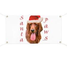 Santa Paws Irish Setter Banner