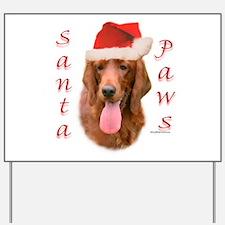 Santa Paws Irish Setter Yard Sign