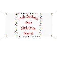 Merry Irish Setter Banner