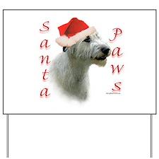 Santa Paws Irish Wolfhound Yard Sign