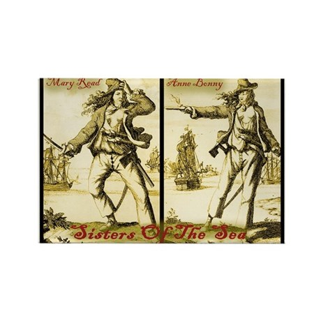 Anne Bonny & Mary Read Rectangle Magnet