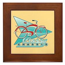 Vintage Bicycle Framed Tile