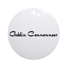 Goblin Cannonneer Ornament (Round)